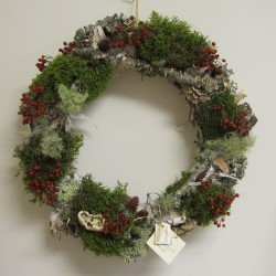 Shop for birch bark wreaths crafted by the Merry Elves.