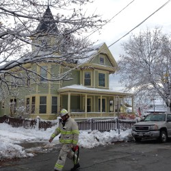 Bangor fire crews fight biting cold to knock down early morning Court Street blaze