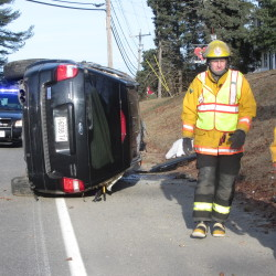 Hope man charged with OUI after crash