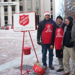 LePage starts Salvation Army's red kettle campaign with State House donation