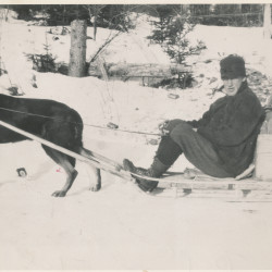 """Maurice Bartlett, a legendary wood scaler employed by Quebec lumber baron Edouard LaCroix in the 1920s, was the inspiration for the main character in Leonard Hutchins' book, """"Bon Homme."""""""