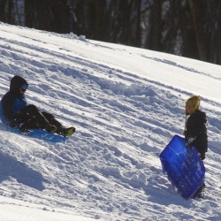 Area sledders take to the slopes