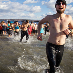 Portland Polar Bear Dip and Dash raises awareness of climate change