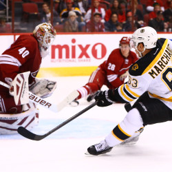 Marchand scores twice as Bruins edge Kings