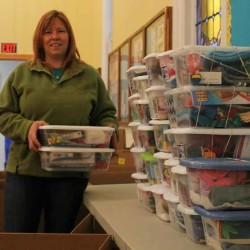 Orrington churches fill shoe boxes with gifts for children in need