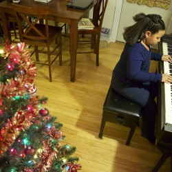 Nine-year-old Maurcia Mosley has been playing piano since she was 3 years old.