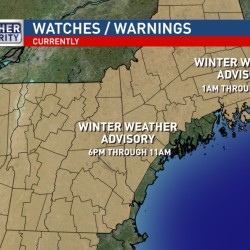 Warm front, rain expected in Maine