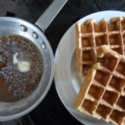 Last call for waffles in Monument Square