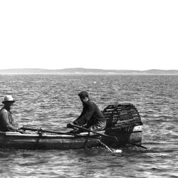 Fishermen on the coast of Vinalhaven in 1936. From Richard Burton's Flickr collection, rich701.