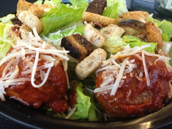 The meatball caesar at Daily Greens in Portland was invented on a whim to turn consumers onto salads this winter.