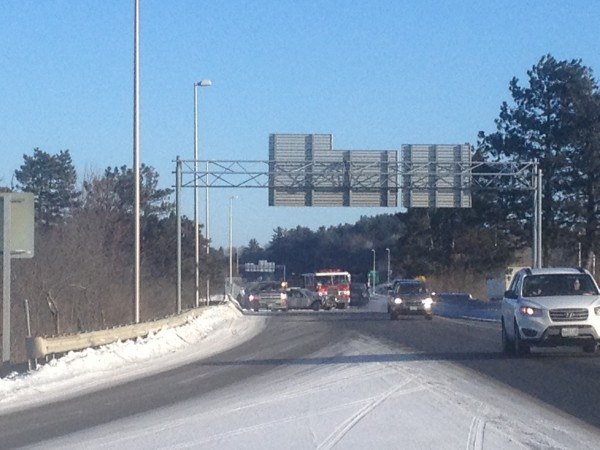 I-95 accident near I-395 interchange snarls traffic — Bangor — Bangor