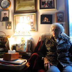 At Home Downeast member Margaret Staples, 89, at her Brooklin home.
