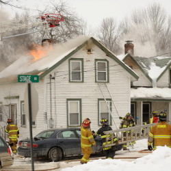 Blaze destroys tax collector's home