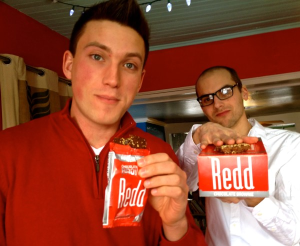 Alden Blease (left) and Reed Allen have created an energy bar called Redd, filled with superfood to power you through the day.