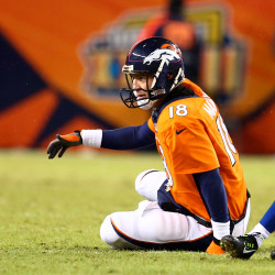 Line protecting Peyton Manning at league-leading pace
