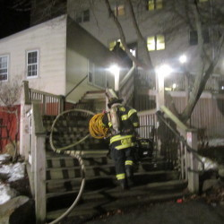 Candle ignites downtown Calais apartment fire, displacing five residents