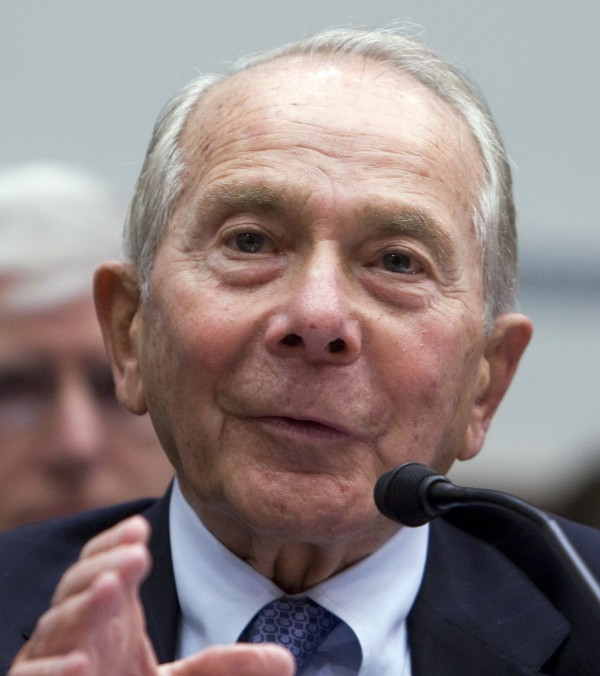 Former AIG CEO Maurice Greenberg testifies at the House Oversight and Government Reform hearing on Capitol Hill in Washington, D.C., in this 2009 file photo.
