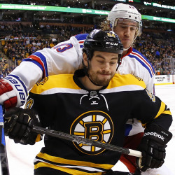 Bruins' Rask spoils return of Rangers' Nash
