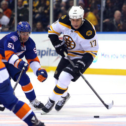 Lucic goal late in OT lifts Bruins past Columbus