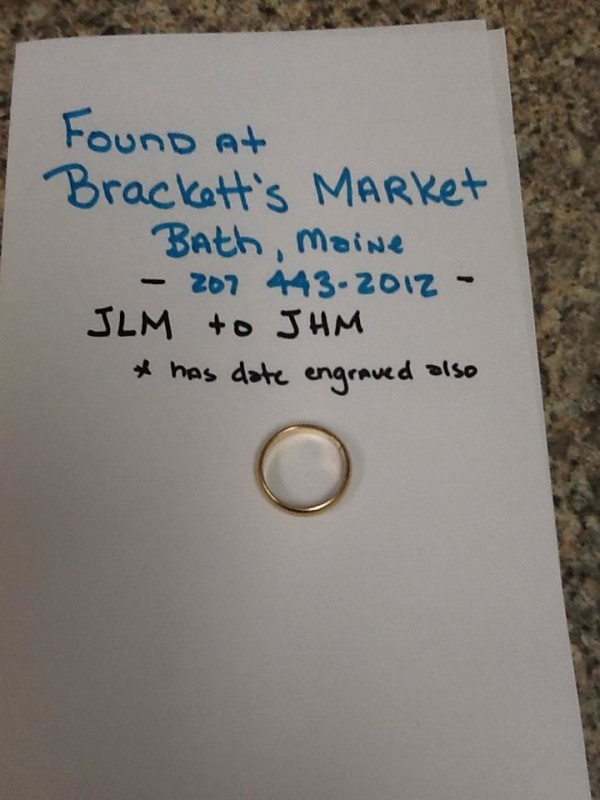 bath market owners turn to facebook in quest to solve mystery of lost wedding ring - Lost Wedding Ring