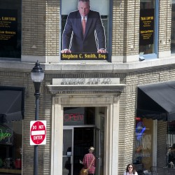 Bangor lawyer's likeness coming down when attorney Smith joins Augusta firm