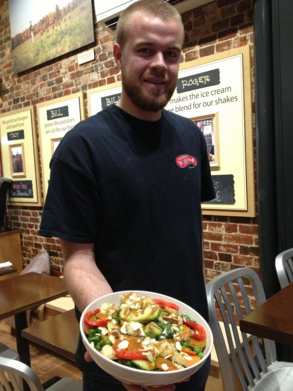 Bill Zolper says the curry and grilled avocado salad at B.good in Portland can power you through a Maine winter.