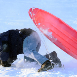 Sledding is a great outdoor activity, if done safely
