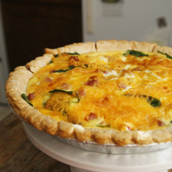Crab Quiche, at last