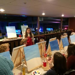 Orono High students paint the town
