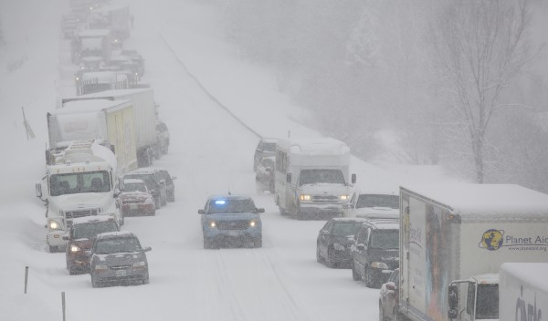 Interstate 95 northbound is closed between Newport and Bangor due to a crash involving more than 40 vehicles.