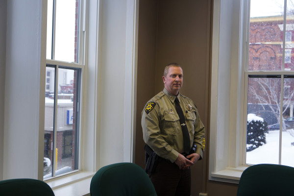 Sheriff Troy Morton poses for a portrait at the Penobscot County Sheriff's office in Bangor on Feb. 12. Ashley L. Conti | BDN