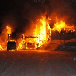 Fire destroys Skowhegan home