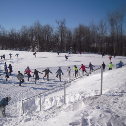 Wind-driven sub-zero temperatures did not deter participants in the 2015 Aroostook Women's Ski Day, who warmed up with a Zumba session led by Mandy Putnam before hitting the ski and snowshoe trails Feb. 1 at the Nordic Heritage Center in Presque Isle.
