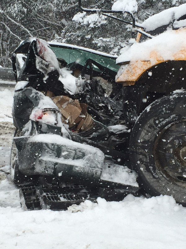 Interstate 95 northbound between Newport and Bangor was shut down Wednesday morning due to a pileup involving more than 40 vehicles.