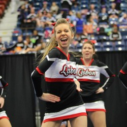 The Lisbon High School cheerleading team won the State Class C Cheerleading Competition at the Augusta Civic Center on Saturday.