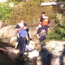 Brunswick police, firefighters rescue woman who jumped off bridge into Androscoggin River