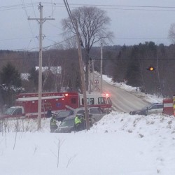 Three hospitalized after vehicles collide at Bangor intersection
