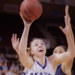UMaine women's basketball team celebrates 'Play4Kay' fundraiser with win over Binghamton