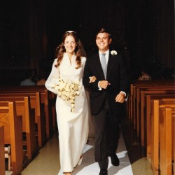 Steve and Marta Robbins, seen on their wedding day in August 1971.