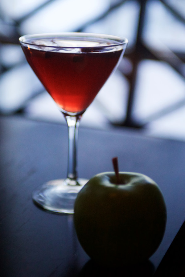 Justin Douglass of the Inn By the Sea in Cape Elizabeth concocted a drink inspired by the Oscar-nominated movie &quotGrand Budapest Hotel&quot and its key plot point, a painting called &quotBoy With Apple.&quot It calls for Jack Daniels, Absolute Orient Apple, pomegranate juice, a splash of champagne and an apple garnish.