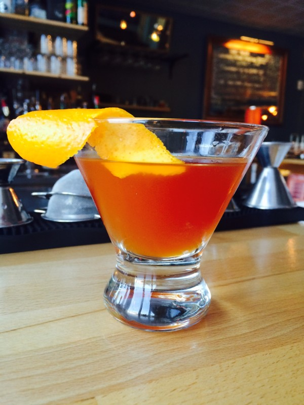Made with chai tea and orange, the Grand Budapest cocktail at 40 Paper is the drink to toast the best picture category while watching the Oscars on Sunday.