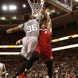 Miami heats up late to beat Celtics