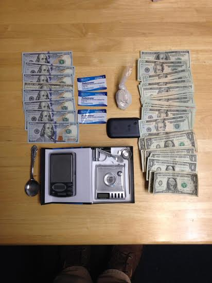 These items were allegedly seized in a drug bust on Monday in Brunswick.