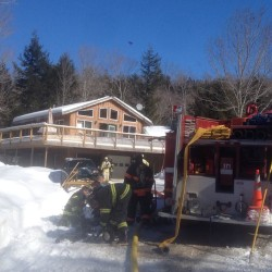 Crews extinguish fire at Dedham home undergoing renovations