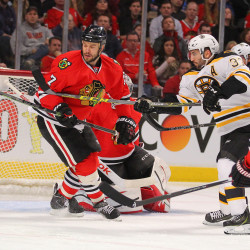 Paille's goal in overtime lifts Bruins by Blackhawks, evens series 1-1
