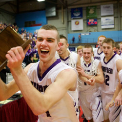 Portland's defensive pressure subdues Hampden in Class A boys basketball state final