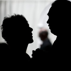 Carol (left) and Michael Murphy of Glenburn renew their wedding vows at Bangor Baptist Church in Bangor in this 2011 BDN file photo.