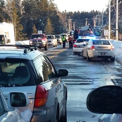 Accident stops traffic on Route 1