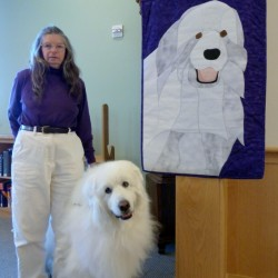 Robyn Douglas and Cirra at the Northeast Harbor Library