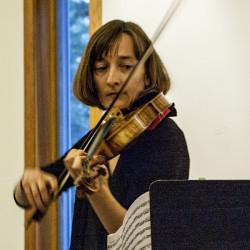 Heidi Powell on violin